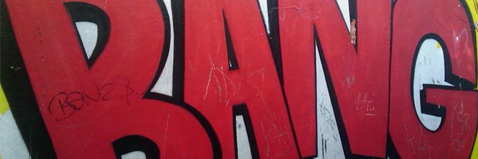 Grafiti muur bang knaller